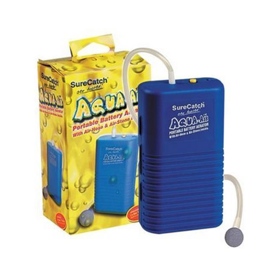 Aqua-Air Portable Aerator Pump - Battery Operated with Air Hose and Air Stone