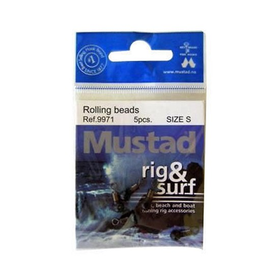 5 x MUSTAD SMALL RIG & SURF ROLLING BEADS/SWIVELS