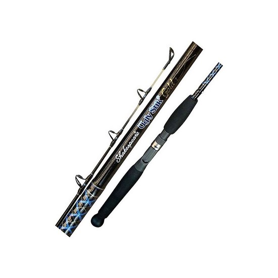 "Ugly Stik Gold 2-4kg 5'6"" 3 Pce Baitcaster Rod-Shakespeare-Fuji Guides"