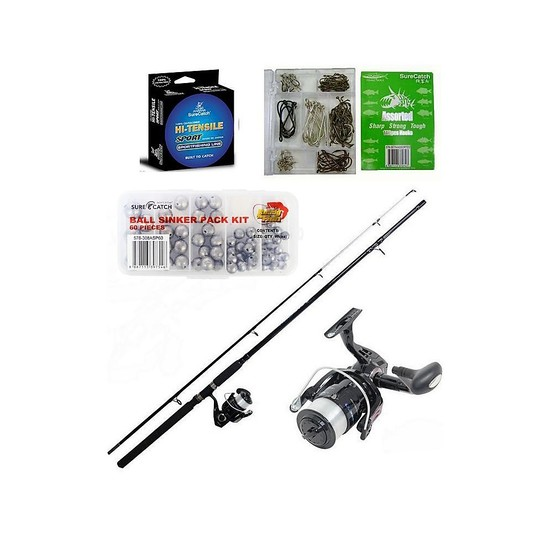 "Shakespeare 6'6"" 2-6Kg Vigilante Rod & Reel Combo With 200 Pieces of Tackle"