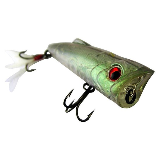 ZEREK POPARAZZI - 50mm - 4.5 grams TOP WATER POPPING LURE- SG COLOUR Brand New