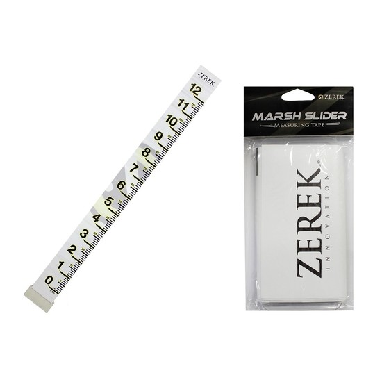 zerek pvc marsh slider fish measuring tape brag tape