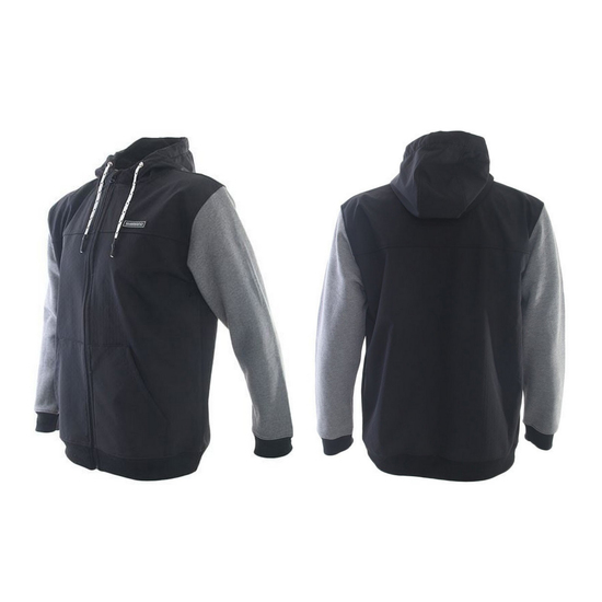 Shimano Black/Grey Bonded Fleece Hooded Jacket - Fishing Hoodie [Size: Small]