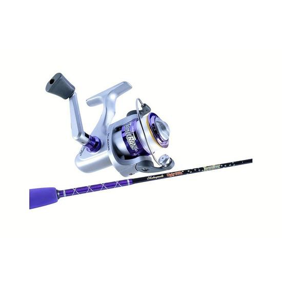 Ugly stik 3 39 9 tackle ratz purple kids rod reel combo 2 for Purple fishing reel