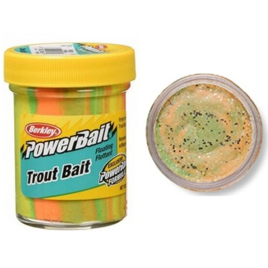 50gm Tub of Orange Twist Berkley Powerbait Trout Bait Dough - Original Scent