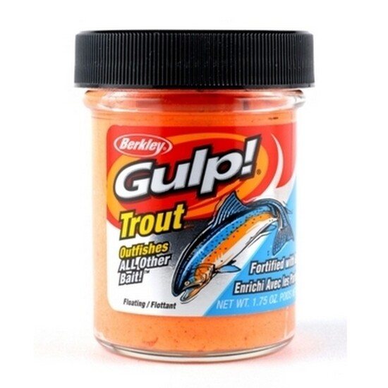 50g Tub of Berkley Gulp! Orange Pulp Floating Trout Bait Dough