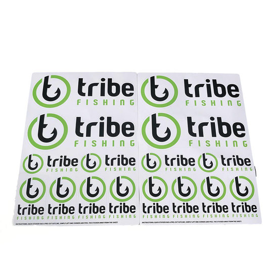 Tribe Fishing Team Tribe Fishing Sticker Pack - 14 Assorted Fishing Stickers