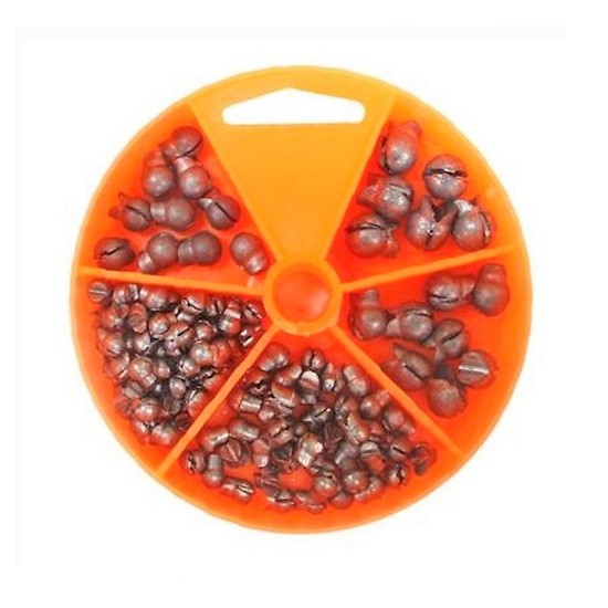 124 Gillies Split Shot Sinkers in Convenient Dial Pack - Assorted Sizes And Weights
