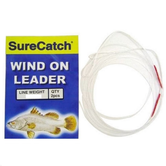 1 Packet of Surecatch Dacron Sleeved 1.5m Wind On Leader - Mono Fishing Leader