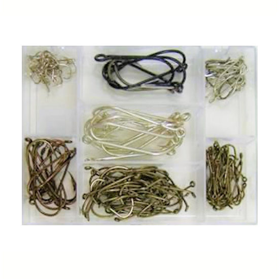 140 Pce ASSORTED HOOK PACK IN FISHING TACKLE BOX - NEW