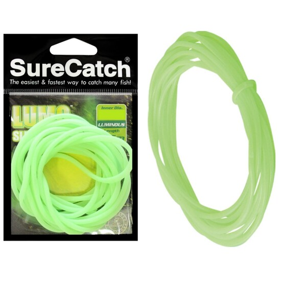 Surecatch Lumo Green Fishing Tube - Glow in the Dark Luminous Sleeve