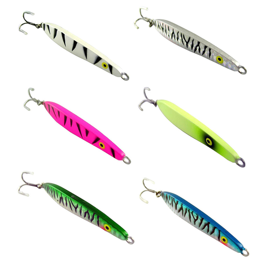 3 Pack of 80mm Surecatch Metal Lazer Jig 50gm Fishing Lure