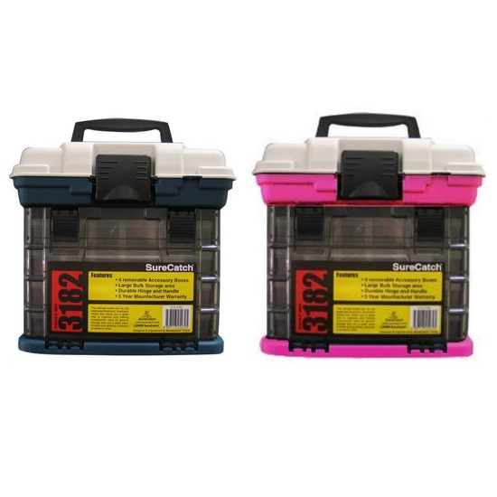 His and Hers 4 Tray Fishing Tackle Box Bundle - 2 x Tackle Boxes