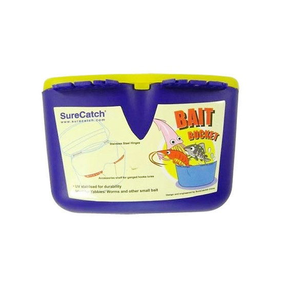 Surecatch Small Bait Bucket with and Accessories Shelf