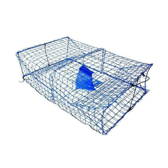 Wilson Heavy Duty Rectangular Crab Trap - 2 Entry - Blue Mesh Crab Pots