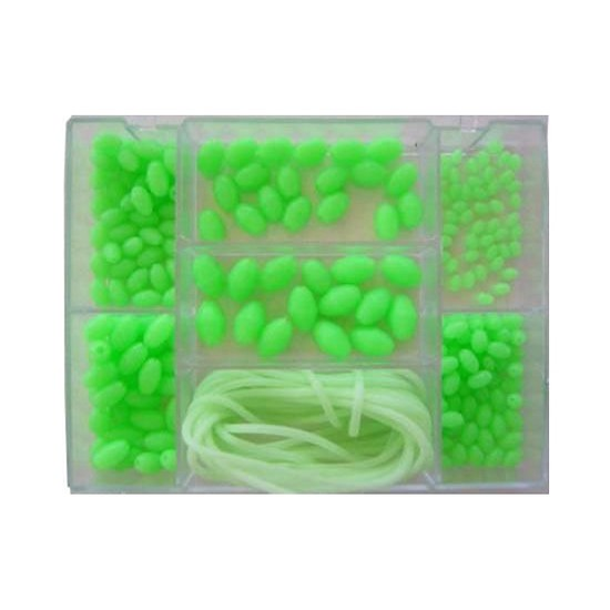 LUMO FISHING BEADS+TUBE 206 Pcs MEGA PACK+BOX 6 SIZES