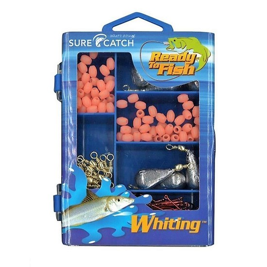 Surecatch 226 Pc Whiting Pack In Fishing Tackle Box - Tackle Kit