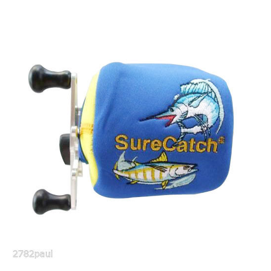 Surecatch Small Left Hand Neoprene Reel Cover to Suit Baitcaster Fishing Reel