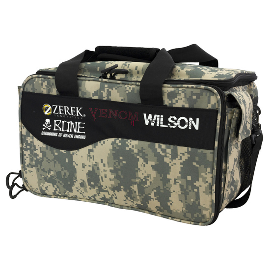 Wilson Large Digi Camo Series Fishing Tackle Bag with Three Fishing Tackle Trays