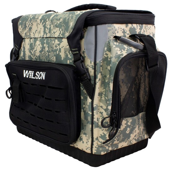 Wilson Platinum Tournament Digi Camo Fishing Tackle Bag with 8 Tackle Trays