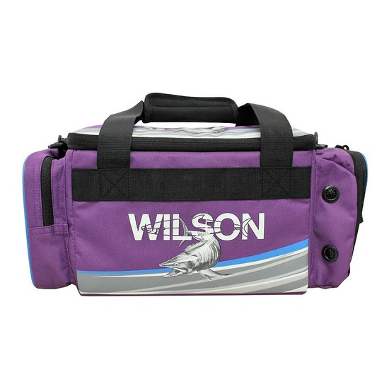 Wilson Small Purple Fishing Tackle Bag with 4 Tackle Boxes & Multiple Pockets