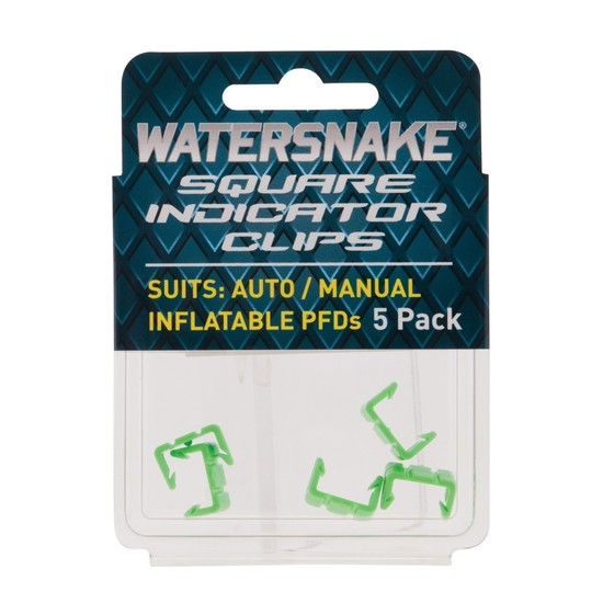 5 Pack of Replacement Watersnake Square Indicator Clips to Suit Auto/Manual PFDs