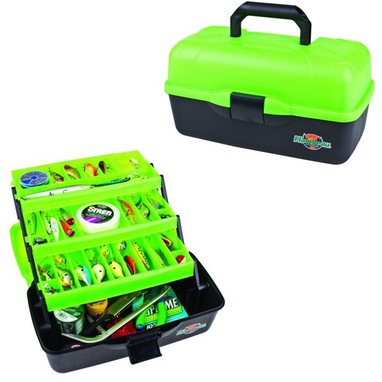 Flambeau 6183TD Frost Series Green 3 Tray Fishing Tackle Box