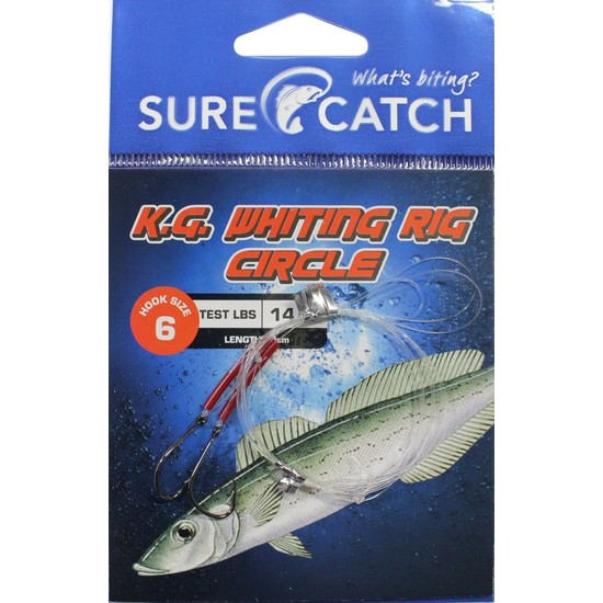 Surecatch King George Whiting Rig with Chemically Sharpened Circle Hooks