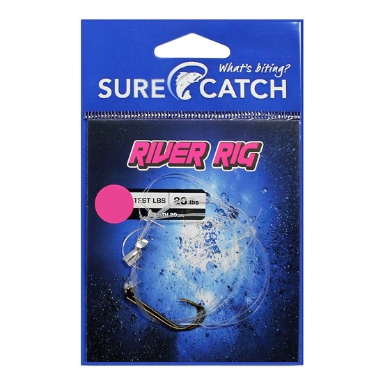 Surecatch Pre-Tied River Rig with Bronze Hooks - Ready To Use Fishing Rig