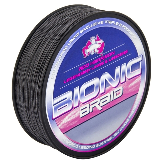 300yds of 12lb Grey Platypus Bionic Braided Fishing Line