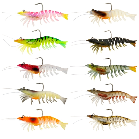 3.5 Inch Zerek Absolute Shrimp Soft Plastic Fishing Lure -11gm Prawn Lure