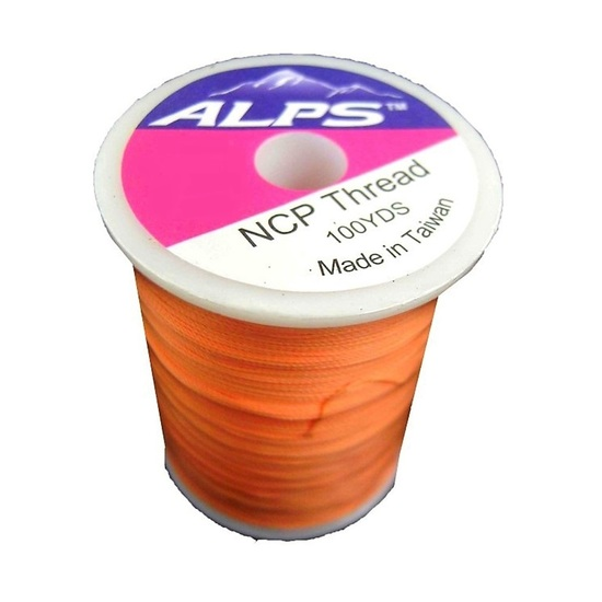 Alps 100yds of Orange Rod Wrapping Thread - Size A (0.15mm) Rod Binding Cotton