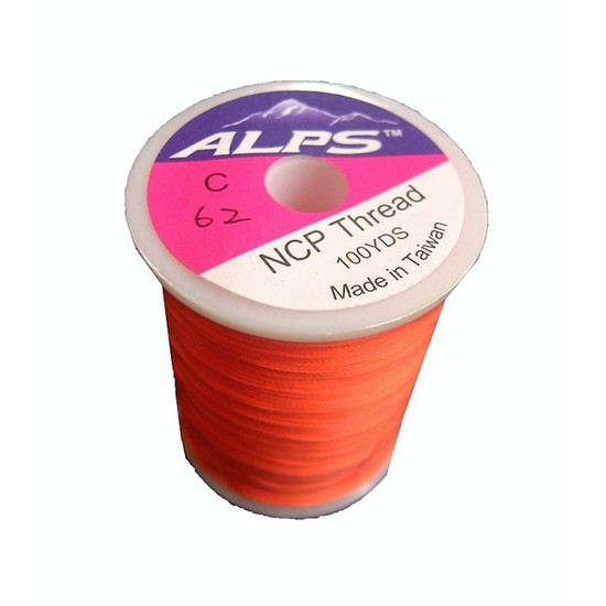 Alps 100yds of Lumin Orange Rod Wrapping Thread - Size C (0.2mm) Rod Binding Cotton