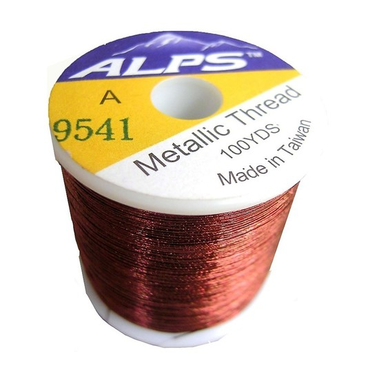 Alps 100yds of Metallic Brown Rod Wrapping Thread-Size A (0.15mm) Thread