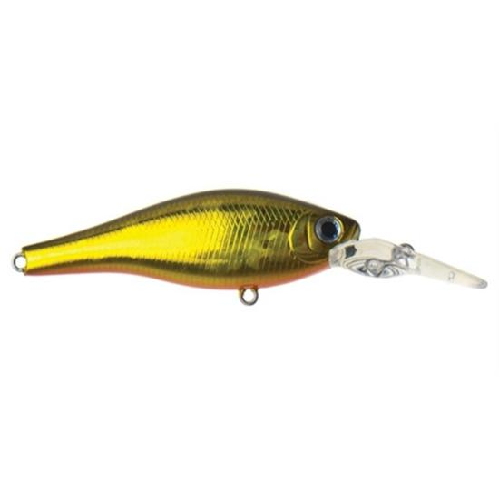60mm Atomic Hardz Shiner Deep Diver Hard Body Lure - Gold Wolf Colour