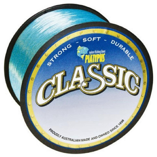300 Metres of 6lb Platypus Classic Blue Mono Fishing Line-Blue Monofilament Line