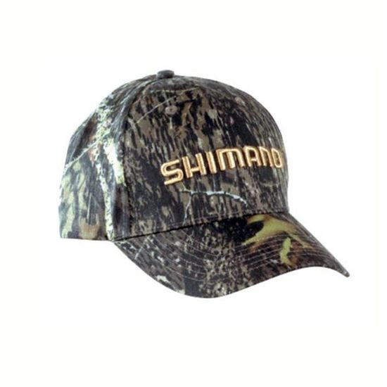 Shimano Forest Camo Fishing Cap - Embroidered