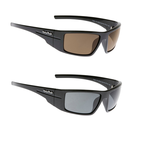 Ugly Fish Crater PC3095 Polycarbonate Polarised Sunglasses-Adult Fishing Sunnies