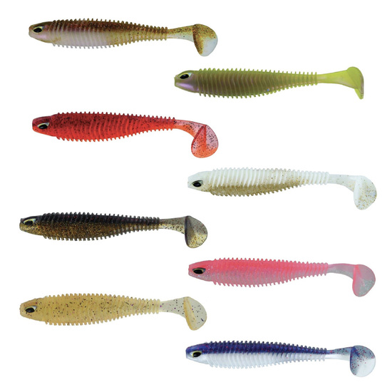 4 Pack of Chasebait 5.5 Inch Paddle Bait Soft Plastic Fishing Lures