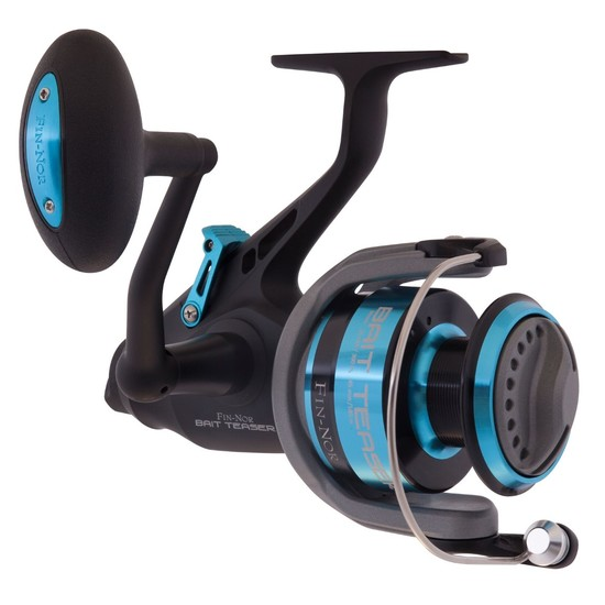 Fin-Nor Bait Teaser Spinning Reel with Front and Rear Drag - Free Spooler Reel