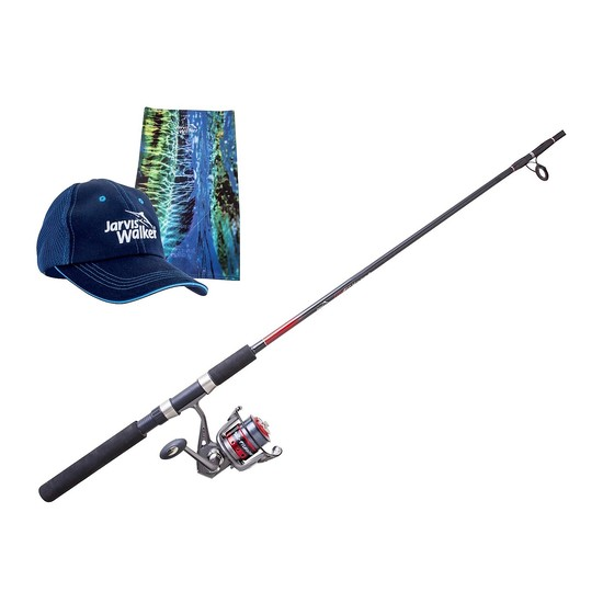 Jarvis Walker Fishunter Fishing Rod and Reel Combo with Bonus Cap and Head Scarf