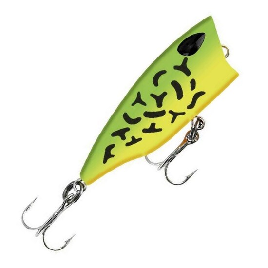 4cm Gomoku Popper Fishing Lure - 3gm Floating Popping Lure - Firetiger