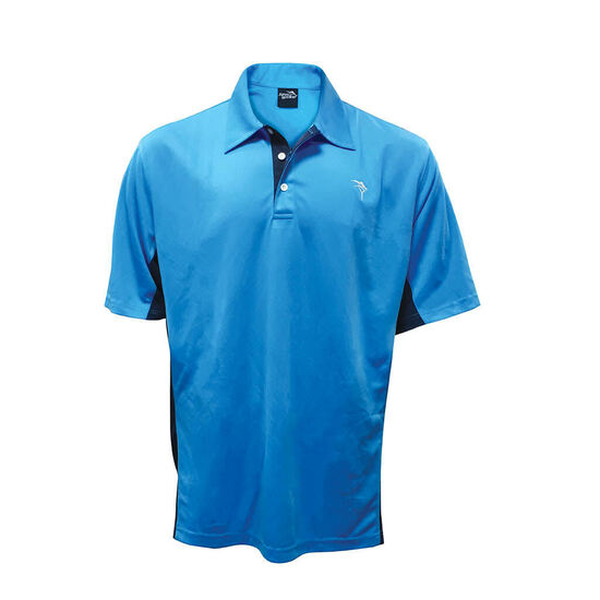 Jarvis Walker Sky Blue Polo Shirt-Breathable Fabric Fishing Shirt with Collar