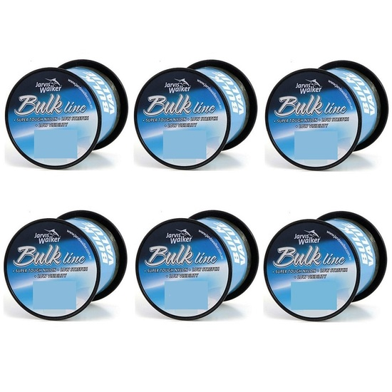 6 Spools of Jarvis Walker Green Mono Fishing Line Terminal Tackle