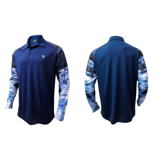 Jarvis Walker Long Sleeve Tournament Fishing Shirt with Sublimated Sleeves