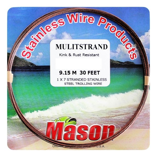 30ft Coil of Mason Multistrand Stainless Steel Wire Fishing Leader