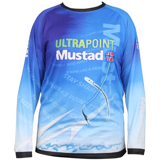 Mustad Long Sleeve Breathable Fishing Shirt - UPF 30 Fishing Jersey