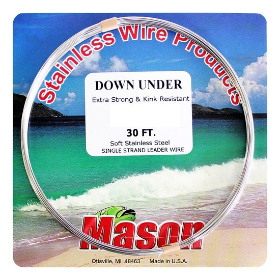 30ft Coil of Mason Down Under Soft Stainless Steel Fishing Wire Leader