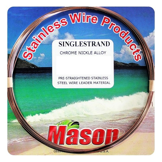30ft Coil of Mason Single Strand Stainless Steel Wire Fishing Leader