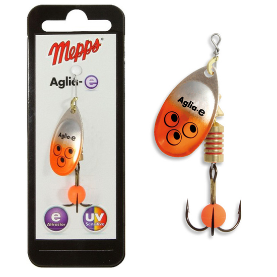 Mepps Aglia Fluo White Size 5 with 14g Spinner Flasher Lures Fishing Bait Fishing